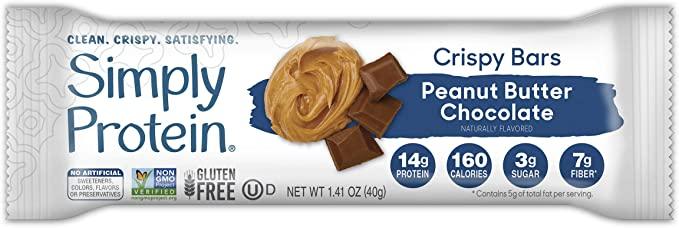 SimplyProtein Peanut Butter Chocolate Crispy Bar