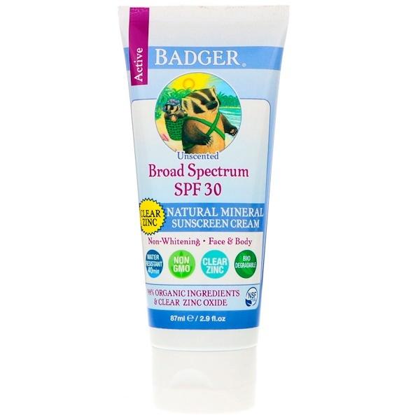 Badger Broad Spectrum SPF 30 Natural Mineral Sunscreen