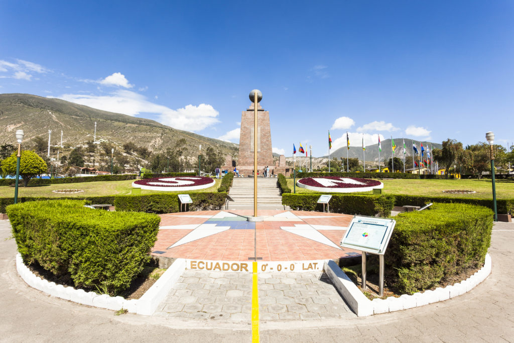 Middle of the World City at the equator in Ecuador