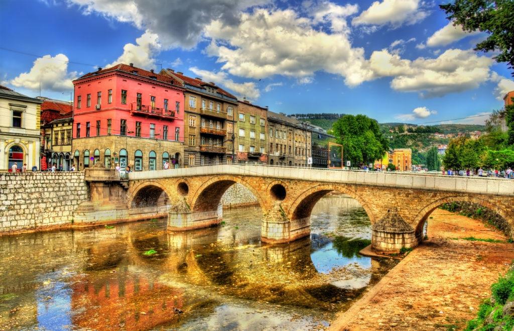 Latin Bridge in Sarajevo, Bosnia and Herzegovina