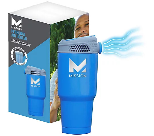 MISSION Portable Air Cooler with Refreezable Blast Pack