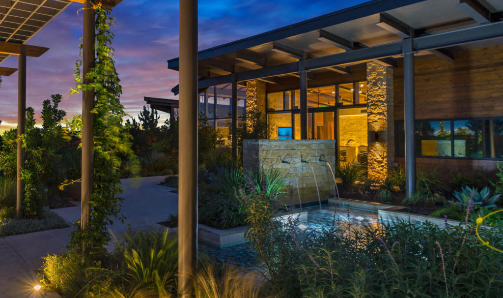 Outdoor courtyard of the La Cantera Resort and Spa at night