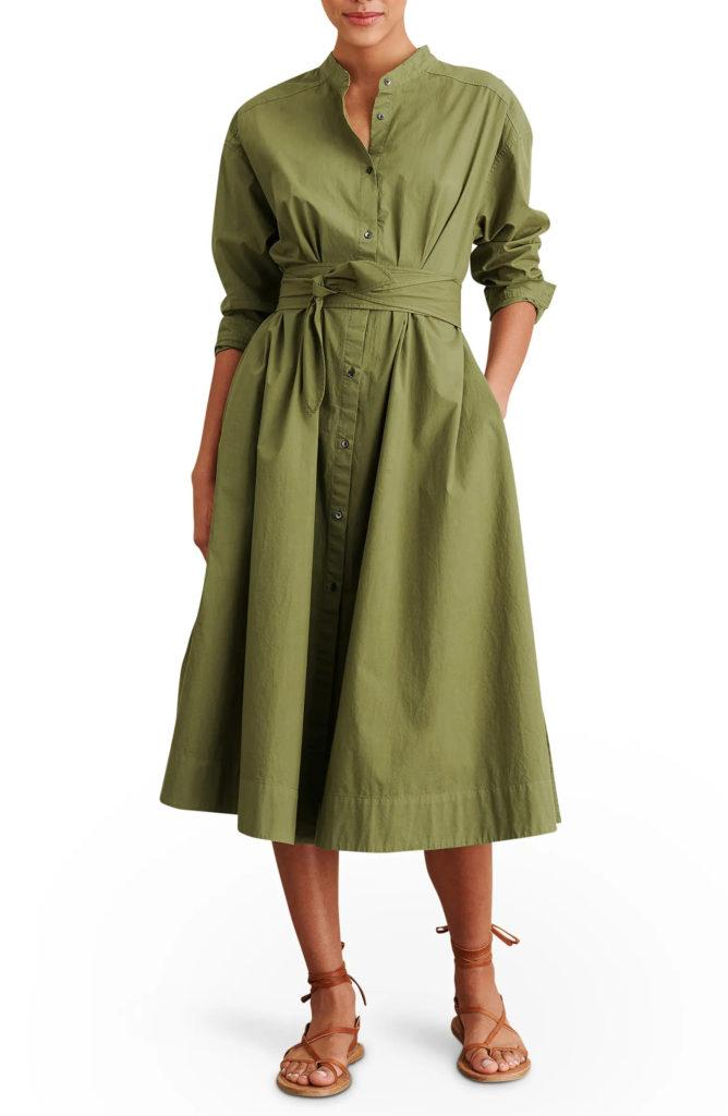 Long Sleeve Midi Shirtdress