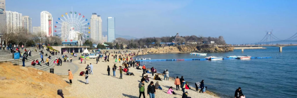 Fujiazhuang Beach Park, Dalian, China