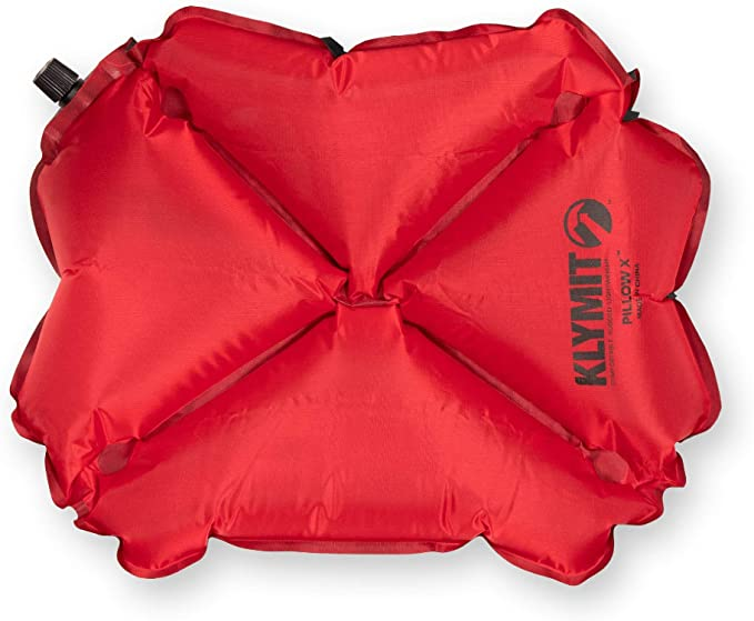Klymit Pillow X Inflatable Camping & Travel Pillow in red