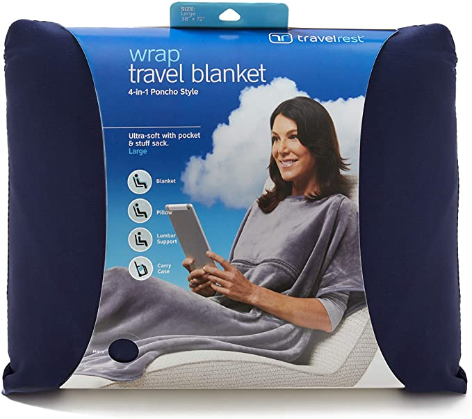 Travelrest 4-in-1 Premier Class Travel Blanket with Zipped Pocket