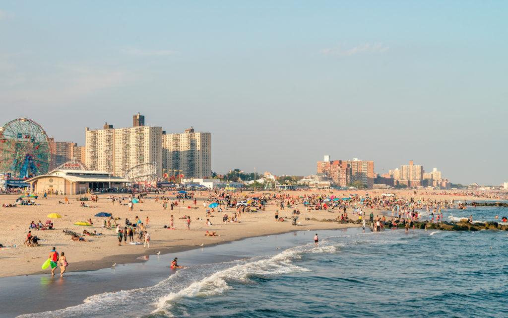 Beach by Coney Island, New York