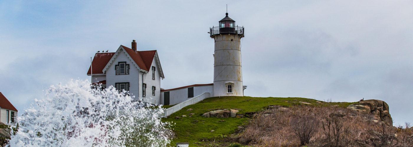 Nubble Lighthouse on Cape Neddick, Maine