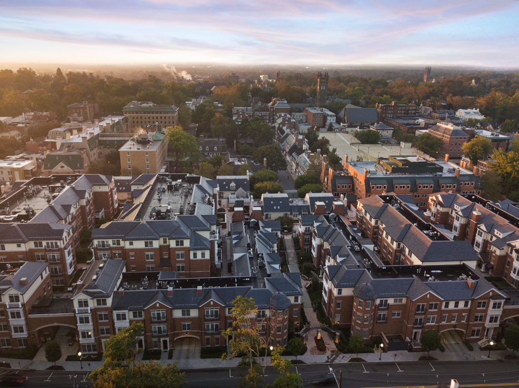 Aerial view of Princeton, New Jersey