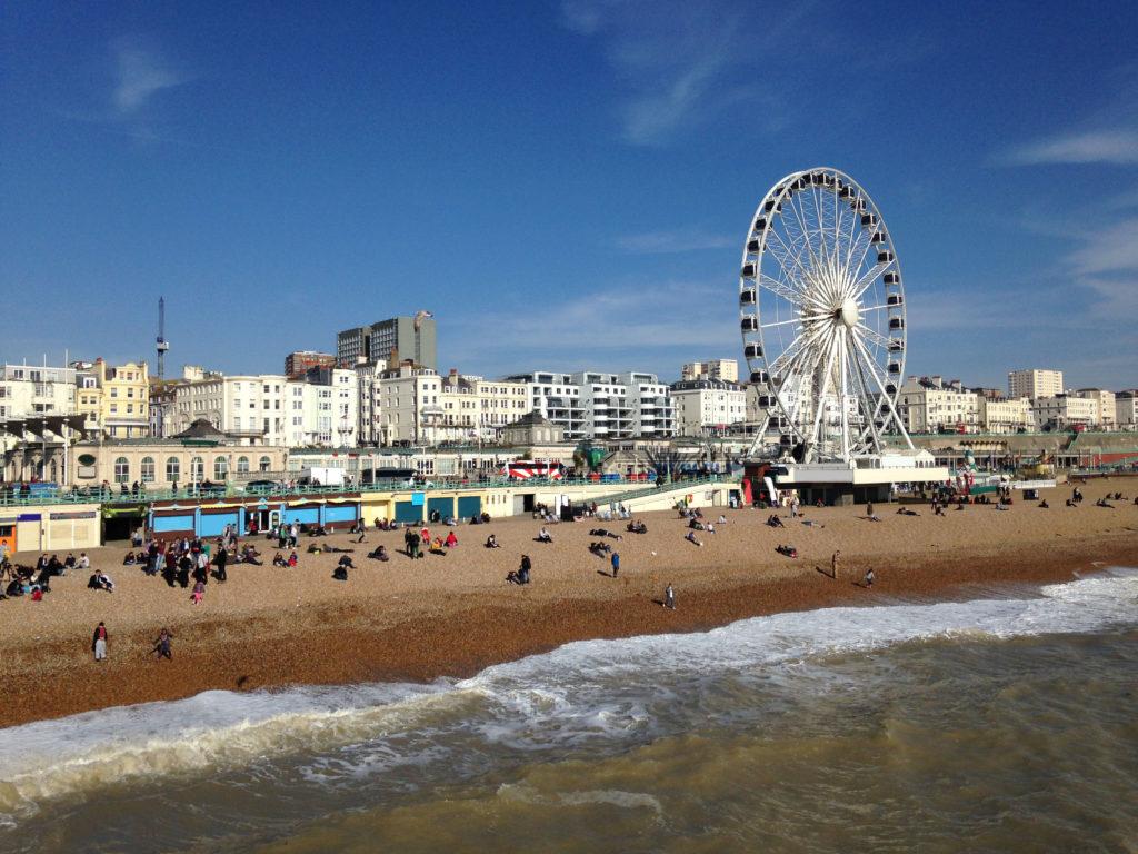 Brighton Pier and Brighton Beach in the United Kingdom