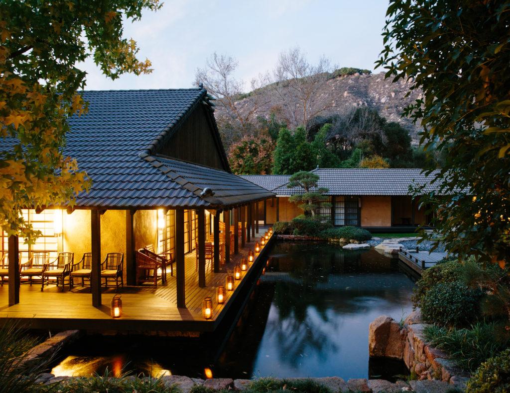 Outdoor pond at the Golden Door resort and spa in Escondido, California
