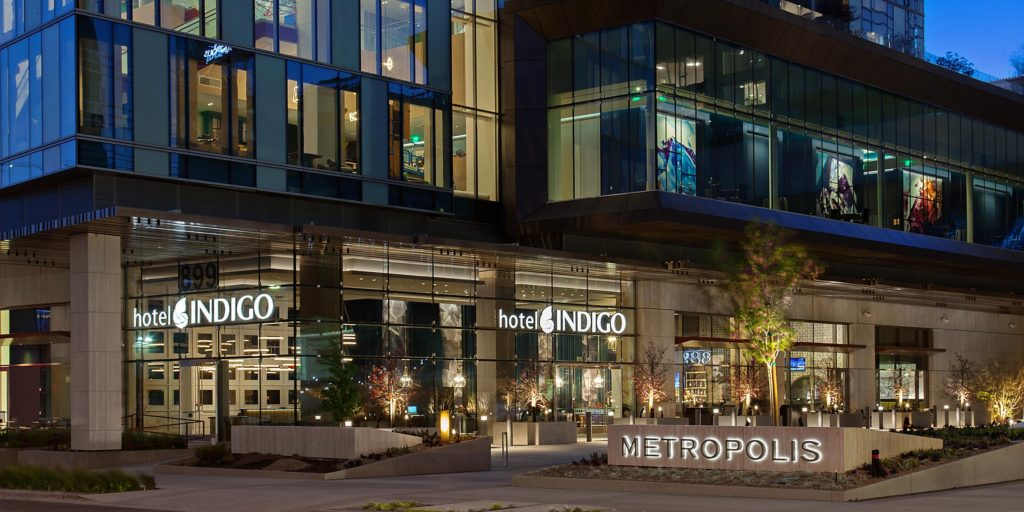 Exterior of the Hotel Indigo Los Angeles Downtown