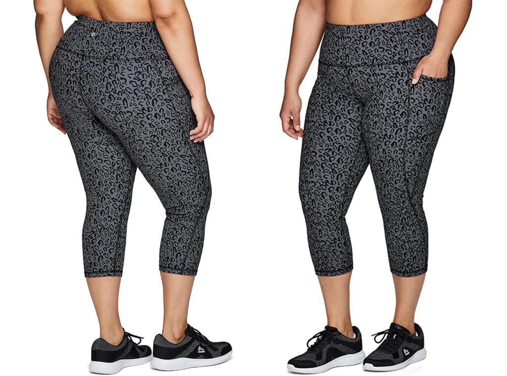 RBX Active Plus Size High Waist Capri Leggings with Pockets
