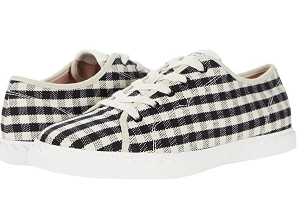 Kate Spade New York Vale Sneaker in Black and White Gingham