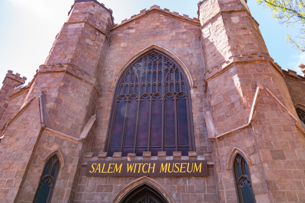 Front entrance of the Salem Witch Museum