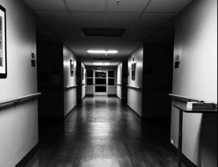 Interior hallway at Asylum 49 haunted house in Utah