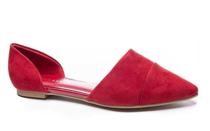 Chinese Laundry Easy Does It D'Orsay Flat in red
