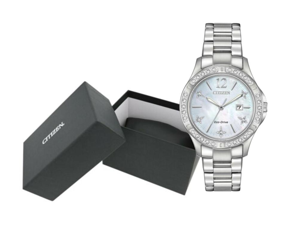 Citizen Eco-Drive Elektra Women's Crystal Silver-Tone Watch