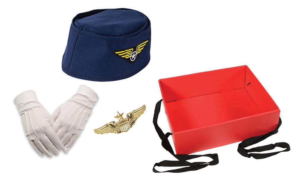 Flight attendant costume accessory set