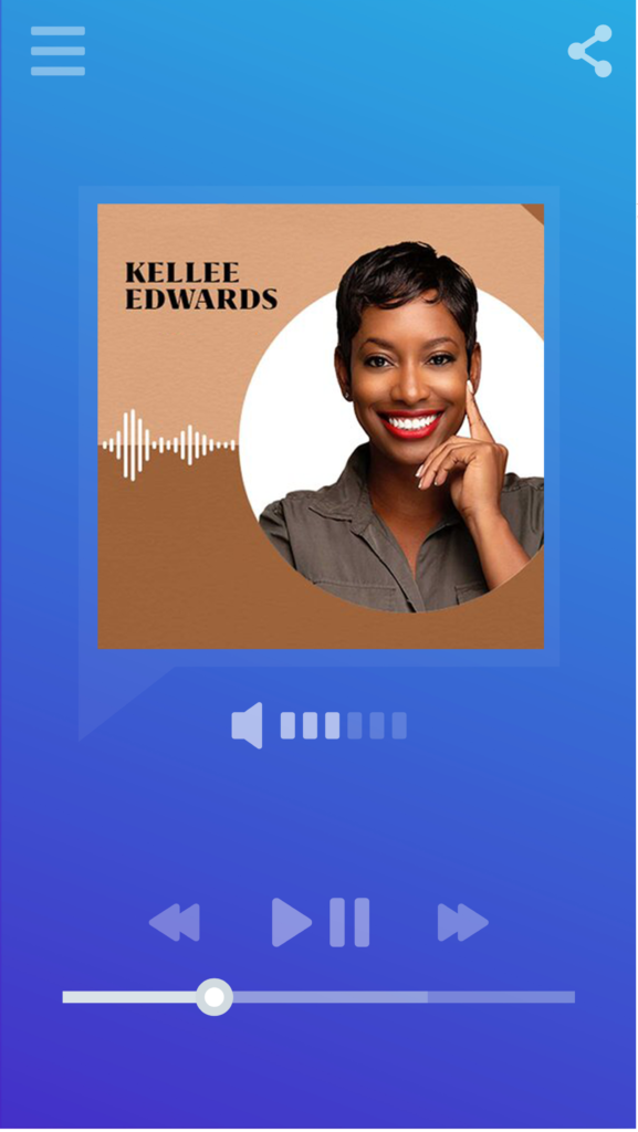Smartphone music/podcast player displaying logo for the Let's Go Together podcast