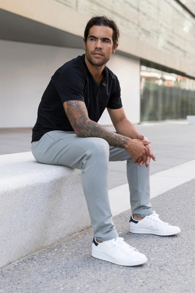 Man wearing All Day Every Day Pant from Public Rec