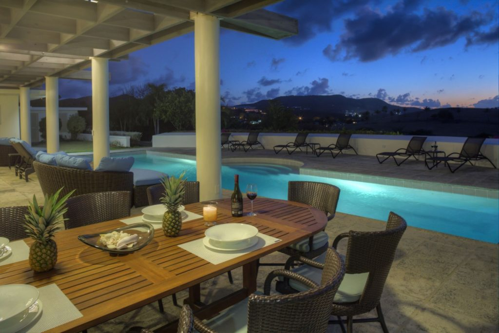 Poolside patio at The Buccaneer Beach and Golf Resort, St. Croix