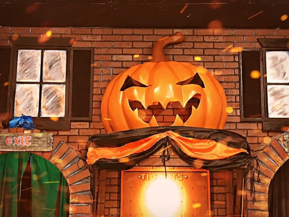 An exhibit in the Halloween Museum in Salem, Massachusetts