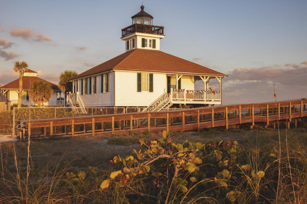 Port Boca Grande Lighthouse. Boca Grande, Florida, USA.